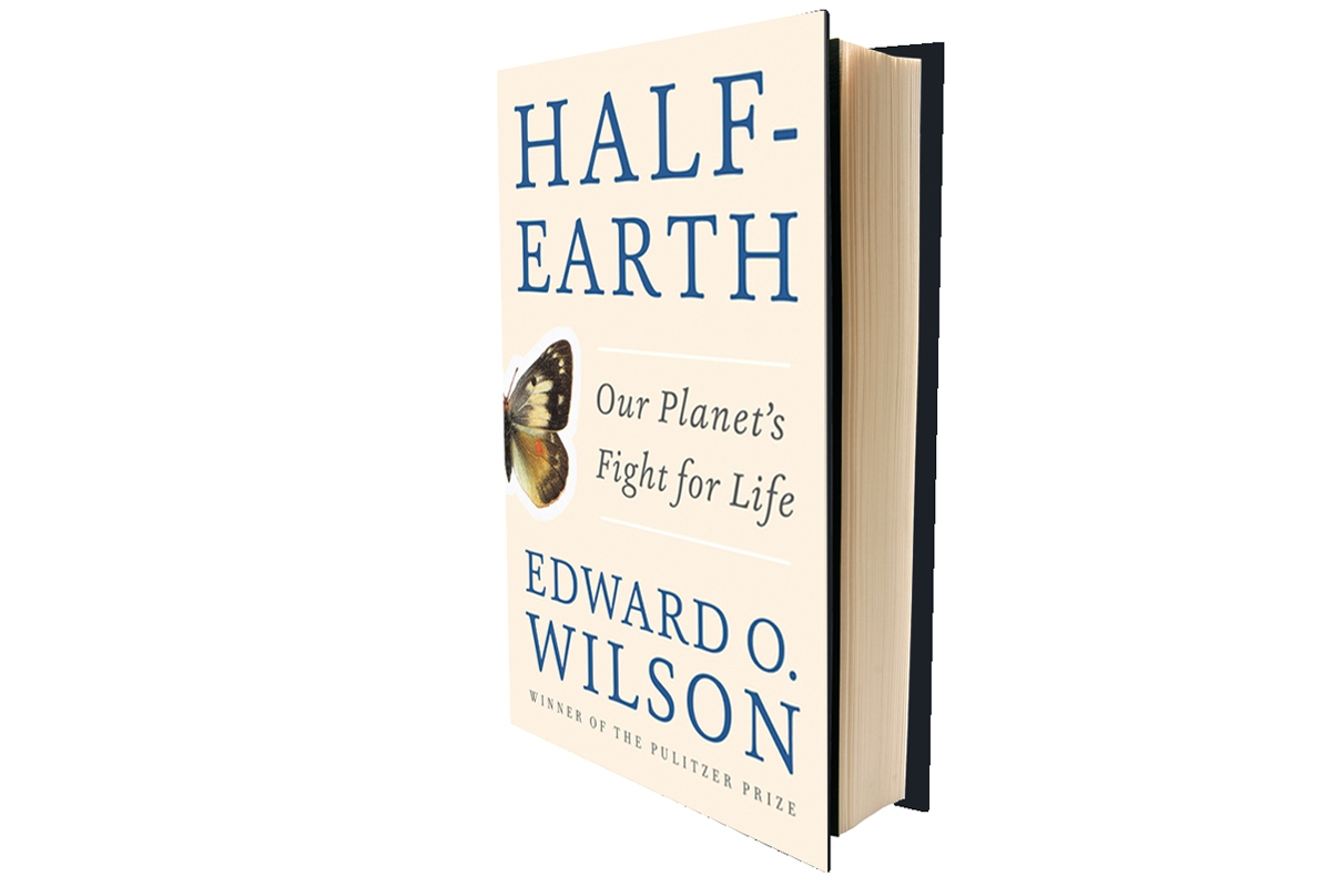 A picture of the books Half Earth - Our Planet's Fight for Life by E.O. Wilson